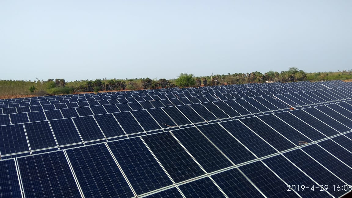 Pharmaceutical Company Adopts Solar Power by U Solar Clean Energy - ground mounted solar power plant on site of facility