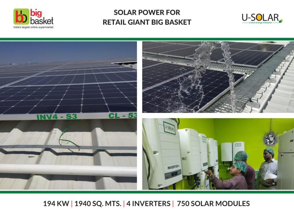 Solar Power for Big Basket